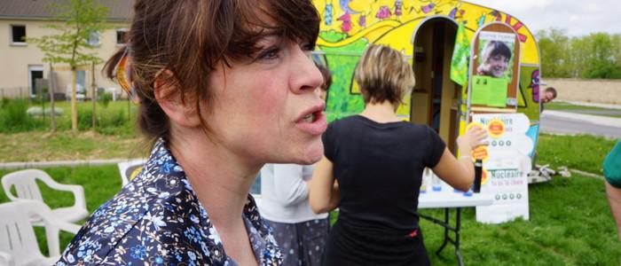 Sophie Perrin, candidate EELV a lancé sa campagne samedi 19 mai à Douzy