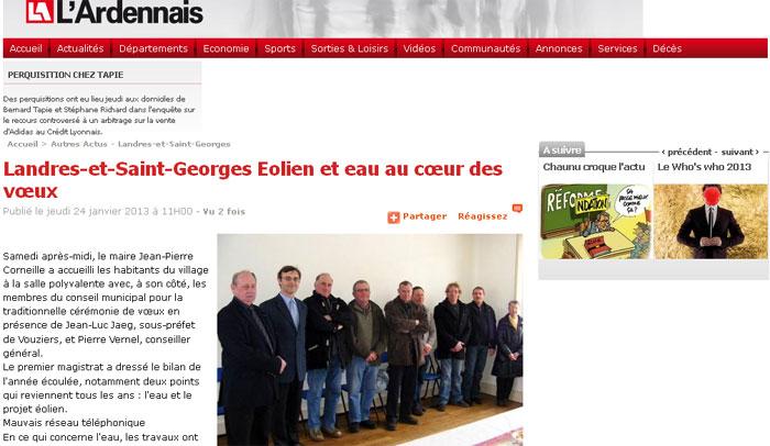 Landres-et-saint-georges voeux 2013 collège buzancy