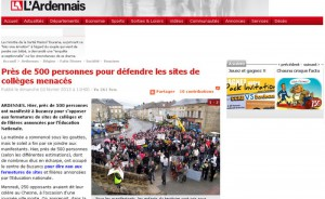 Près de 500 personnes pour défendre les sites de collèges menacés