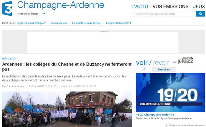 Ardennes : les collèges du Chesne et de Buzancy ne fermeront pas