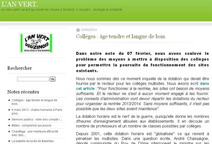 Collèges : âge tendre et langue de bois