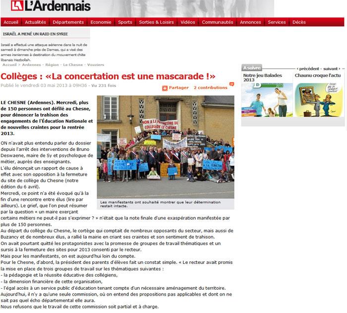 Collèges : «La concertation est une mascarade !»