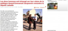 Les deux hommes ont échangé sur leur vision de la politique Quand Emmanuel Jacquemin rencontre le député Lassalle