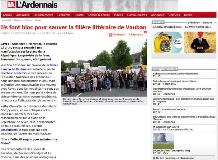 Ils font bloc pour sauver la filière littéraire de Vauban
