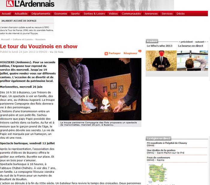 Le tour du Vouzinois en show
