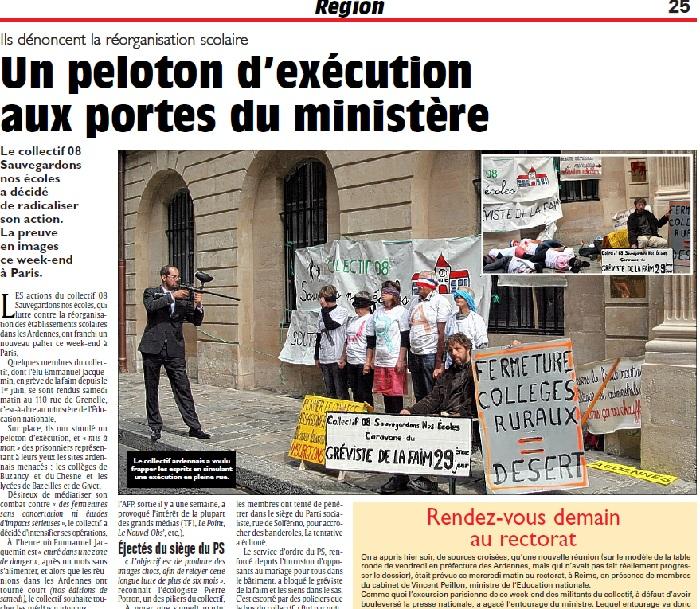 Un peloton d'exécution aux portes du ministère