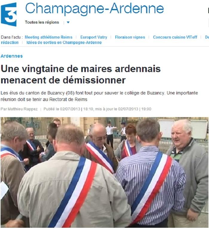 Une vingtaine de maires ardennais menacent de démissionner