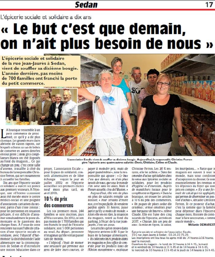 Sedan: L'épicerie sociale et solidaire a dix ans « Le but c'est que demain, on n'ait plus besoin de nous »
