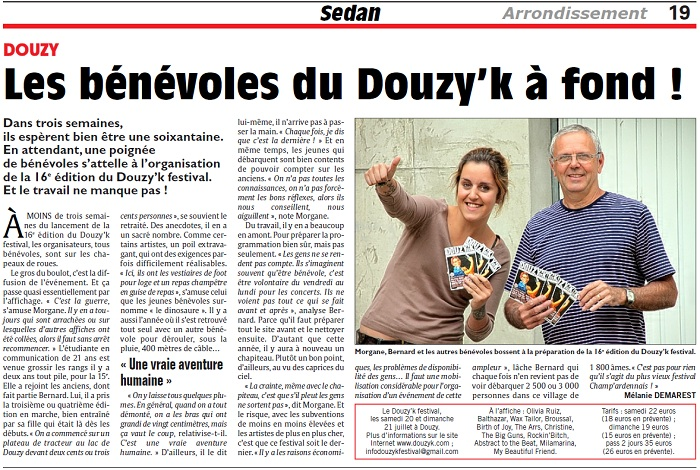 Les bénévoles du Douzy'k à fond !
